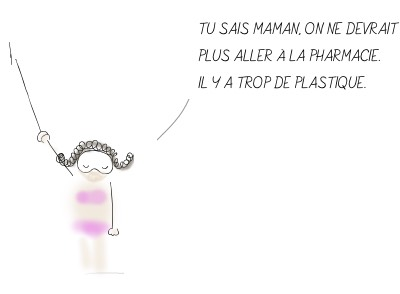 Illustration - Ava qui propose de ne plus aller à la pharmacie